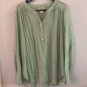 Loft blouse, small, mint color